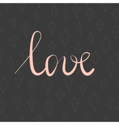 Love valentines card vector image vector image