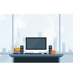 modern workspace vector image vector image