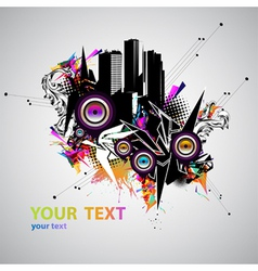Music urban poster vector image