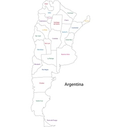 Outline argentina map vector