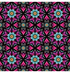 pattern rosette black vector image