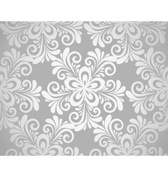 seamless floral background with flowers vector image