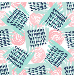 Seamless pattern with grunge textures hand drawn vector