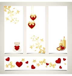 set of valentines banners vector image