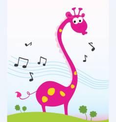singing giraffe vector image
