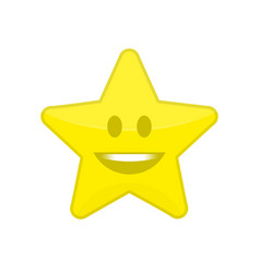 Star icon with smile vector