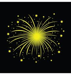 yellow firework vector image vector image