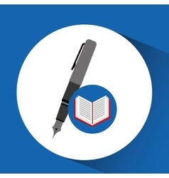 concept school book pen vector image
