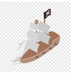 pirate ship isometric icon vector image