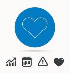 Heart icon love sign vector
