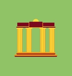 Architecture greek columns vector