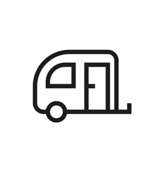 Camping trailer icon on white background vector