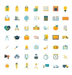 Flat icons big set travel marketing hipster vector