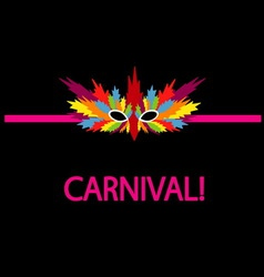 Carnival mask coloful vector image