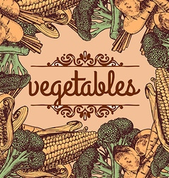 Vintage retro farm fresh poster design vector
