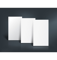 Three business cards mockup vector image