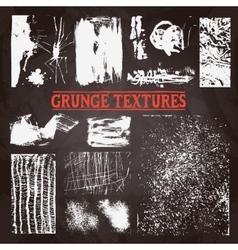 Chalkboard Grunge Texture Set vector image