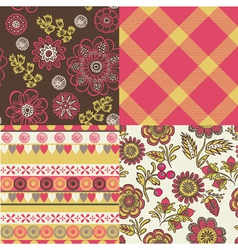 Floral repeat pattern vector