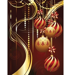Decorative gold xmas balls4 vector