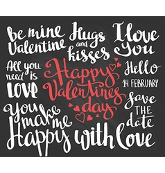 Valentines day set of valentines stylish trendy vector
