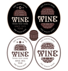 Labels for wine barrel vector