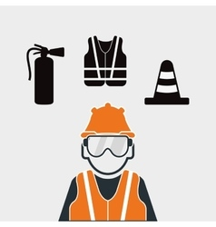 Safety at work icon design vector