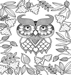 Hand drawn animal coloring page vector