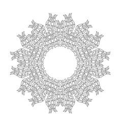 arabic floral ornament mandala vector image