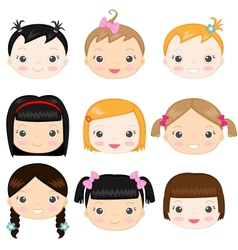 Baby girls vector