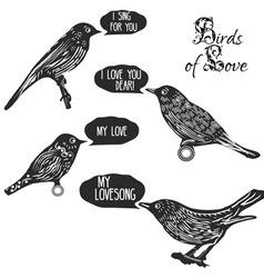Birds singing lovesongs vector