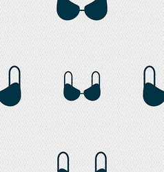 brassiere top icon sign Seamless pattern with vector image vector image