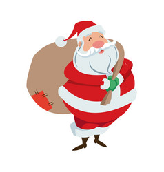 cartoon santa claus for your christmas and new vector image