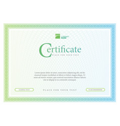 Certificate template diploma currency border vector