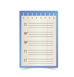 check list blue vector image vector image