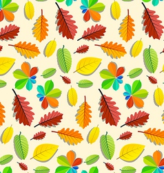 Colorful Seamless Leaves Pattern vector image vector image