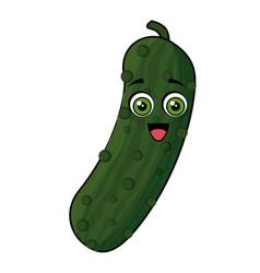 Cucumber vegetables comic character vector