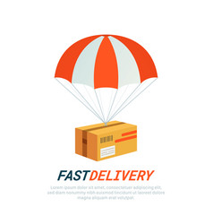 Delivery service concept flat design colored vector