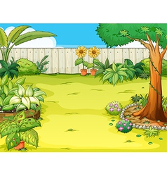 Garden with flowers vector image vector image