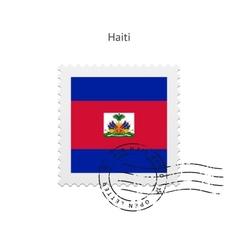 Haiti flag postage stamp vector