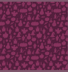 halloween seamless pattern design elements for vector image