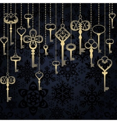 Hanging keys background vector image vector image