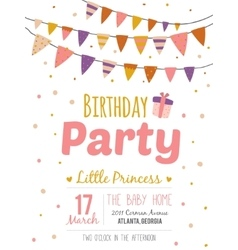 Inspirational happy birthday poster for girl vector