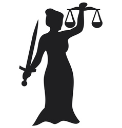 justice statue vector image vector image