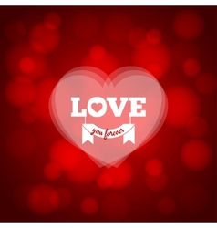 love heart design background vector image vector image