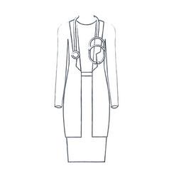 Monochrome blurred silhouette of female doctor vector