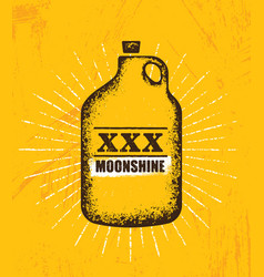 Moonshine jug pure original corn spirit creative vector