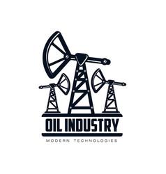 oil derrick pump flat icon pictogram vector image vector image