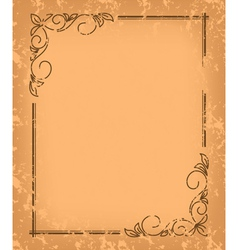 old pattern - vintage background vector image