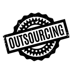 Outsourcing rubber stamp vector