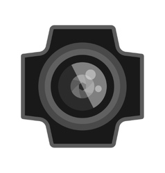 Photo optic lens vector image vector image